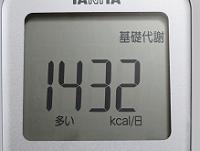 基礎代謝=1432kcal/日